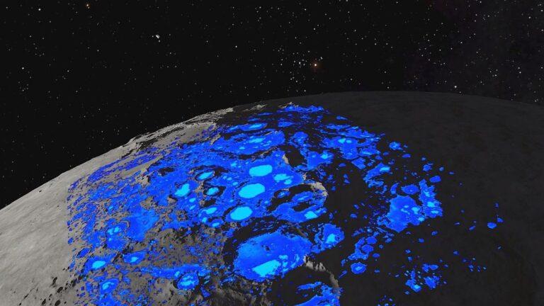descubren agua en la luna. La NASA aún no sabe si puede usarse