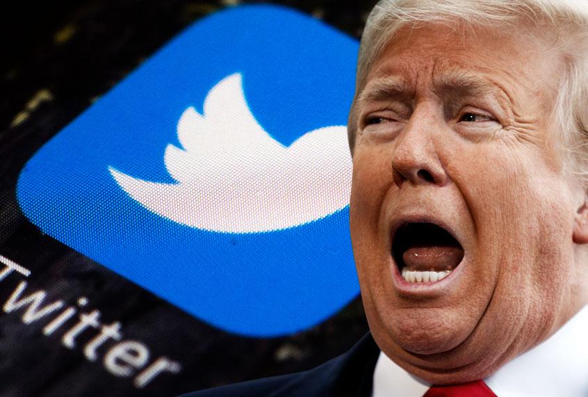 Twitter ahora alerta al traumado Trump de que Biden es presidente cada vez que miente sobre el fraude electoral