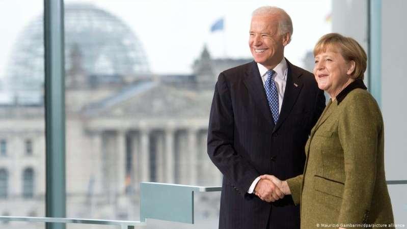Angela Merkel invita a Joe Biden a Alemania