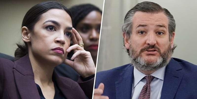 """""""Casi haces que me maten"""". Alexandria Ocasio-Cortez exige la renuncia de Ted Cruz por alentar el asalto al Capitolio"""