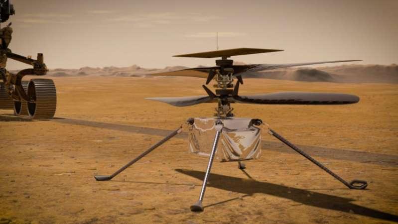 #Marte2020: Cómo es Ingenuity, el primer helicóptero propulsado para volar en otro planeta