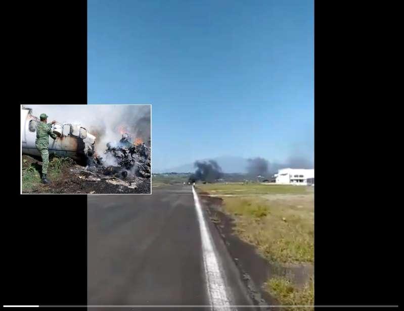 Se desploma avioneta del Ejército mexicano en #Xalapa