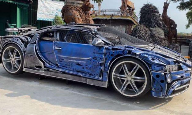 Este Bugatti Chiron hecho con chatarra es una verdadera obra de arte