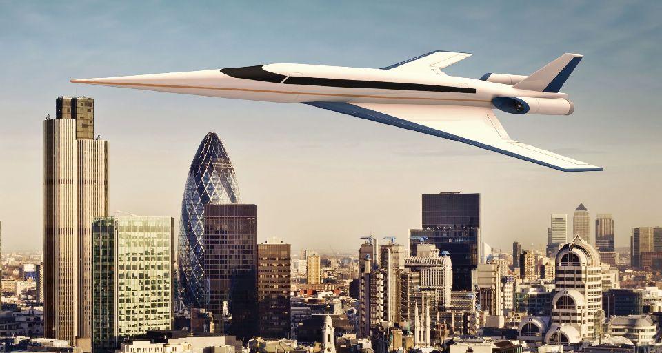 Nuevo avión supersónico podría volar de Londres a Nueva York en 90 minutos