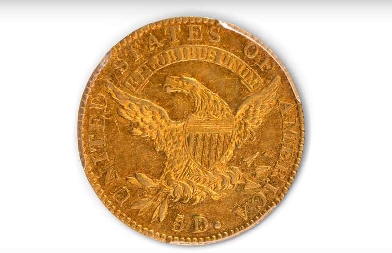 Subastan moneda de oro de 1822 en 8,4 millones de dls