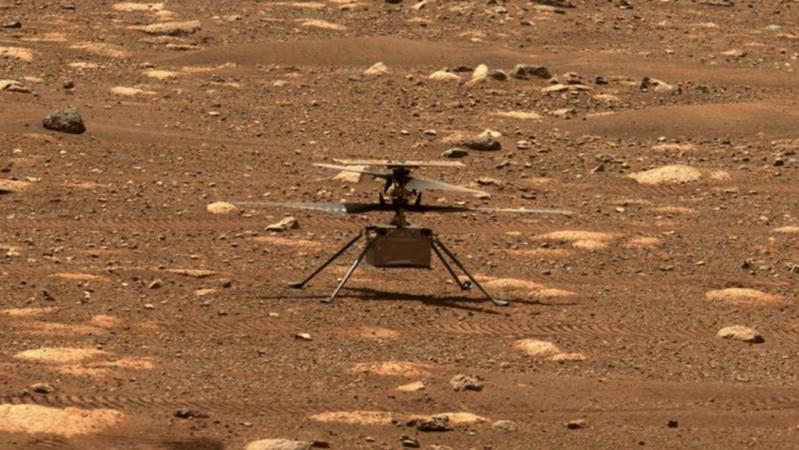 """El helicóptero Ingenuity listo para """"histórica"""" hazaña en Marte"""
