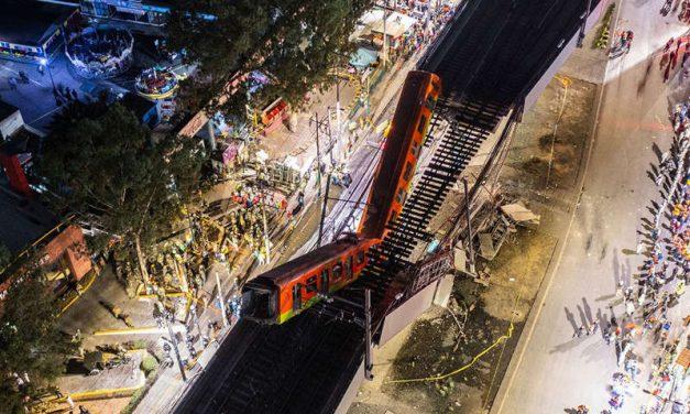 Las imágenes impactantes del desplome de un tramo de la Línea 12 del Metro de la Ciudad de México