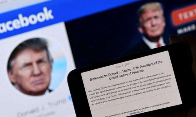 Donald Trump reitera fraude electoral tras decisión de Facebook
