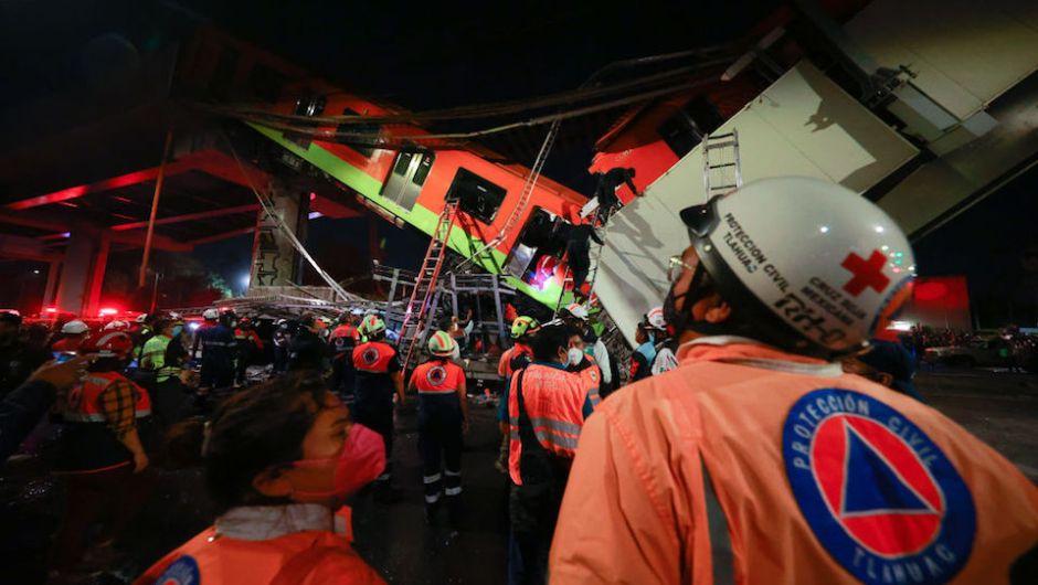 Terrible Accidente en el metro de la Ciudad de México deja varios muertos y decenas de heridos