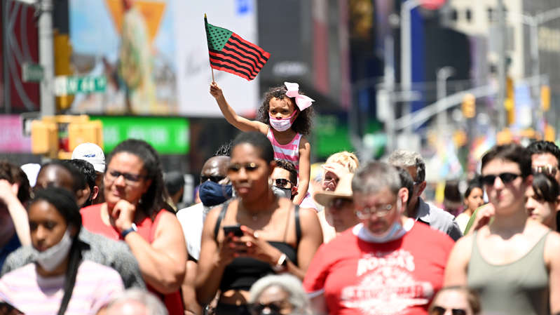 Estados Unidos celebra el fin de la esclavitud en el primer 'Juneteenth' como feriado