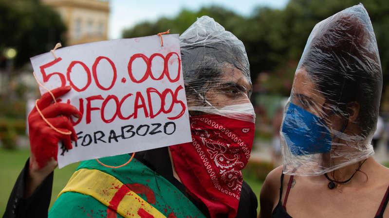 Brasil supera las 500,000 muertes por el COVID-19 y se desatan protestas masivas contra Jair Bolsonaro