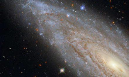 Telescopio espacial Hubble de la NASA captura una galaxia lejana con un fascinante secreto